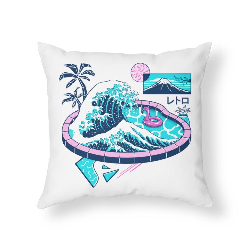 Vapor Wave Pool Home Throw Pillow by Vincent Trinidad Art