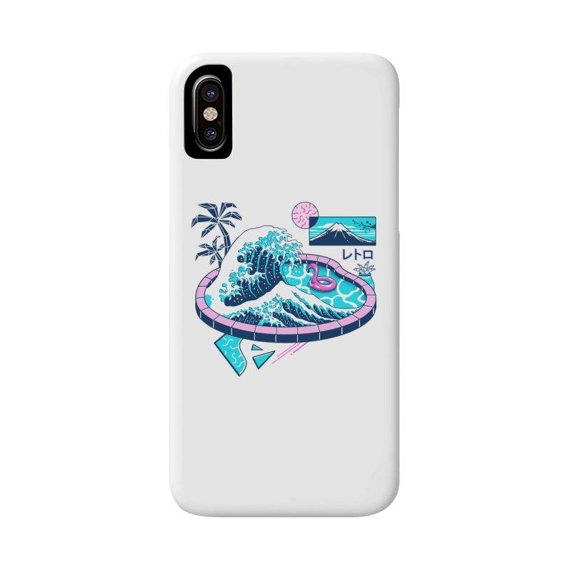Vapor Wave Pool Accessories Phone Case by Vincent Trinidad Art