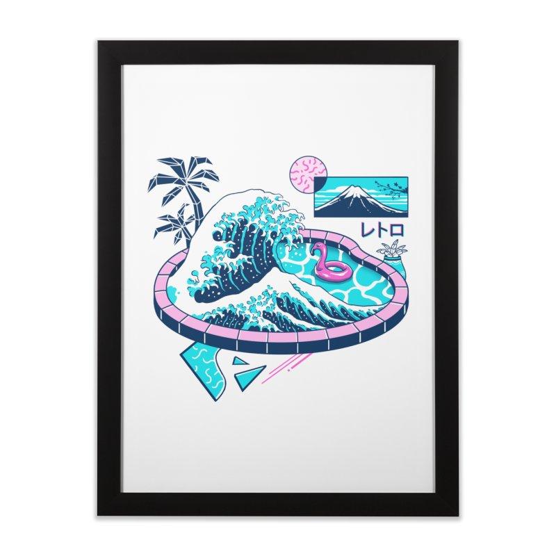 Vapor Wave Pool Home Framed Fine Art Print by Vincent Trinidad Art
