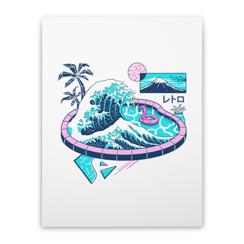 Vapor Wave Pool Home Stretched Canvas by Vincent Trinidad Art