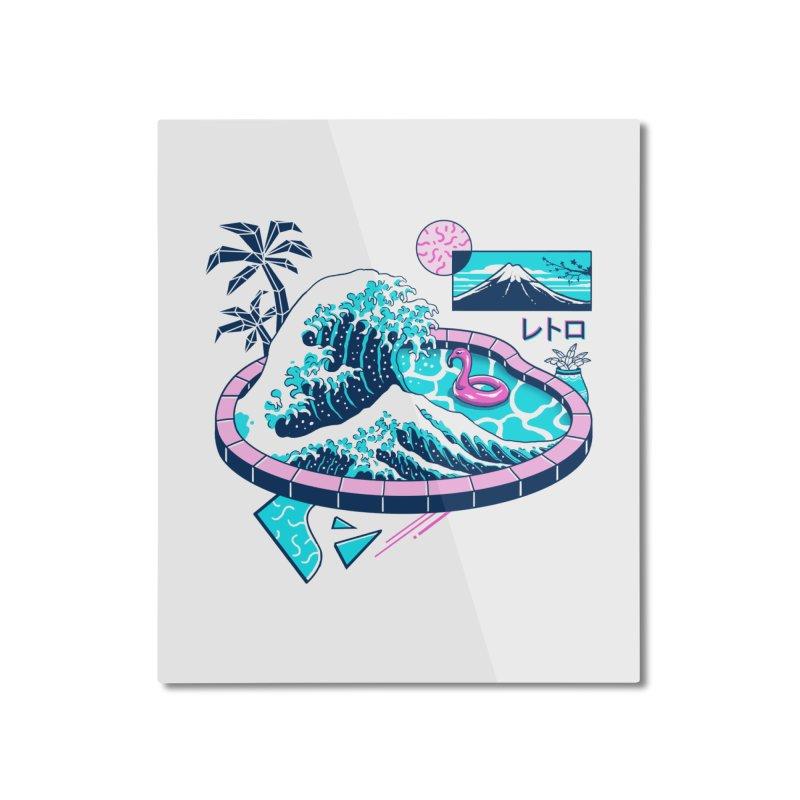 Vapor Wave Pool Home Mounted Aluminum Print by Vincent Trinidad Art