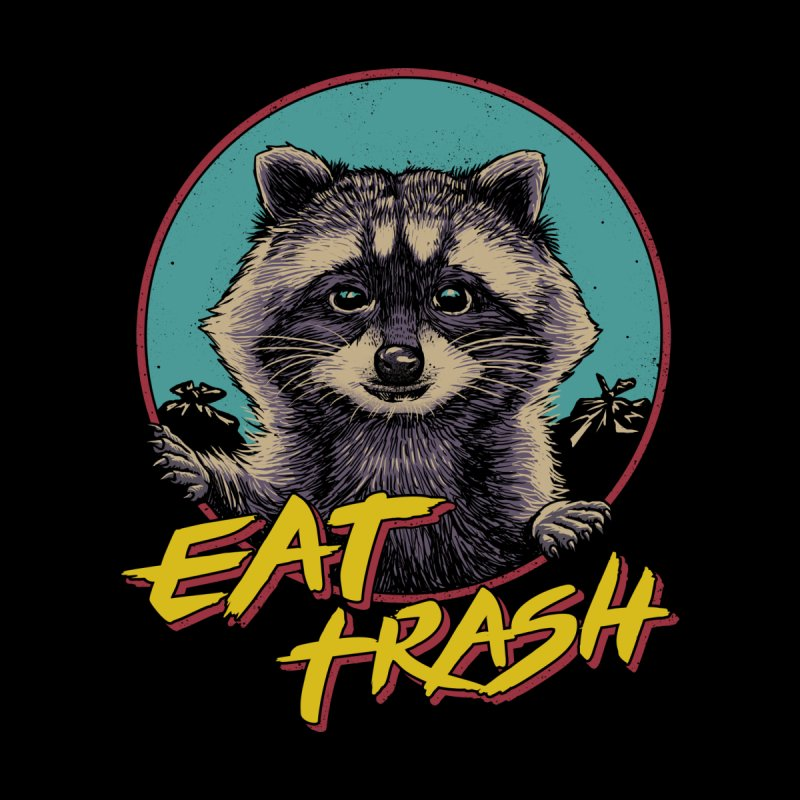 Eat Trash Men's Zip-Up Hoody by Vincent Trinidad Art