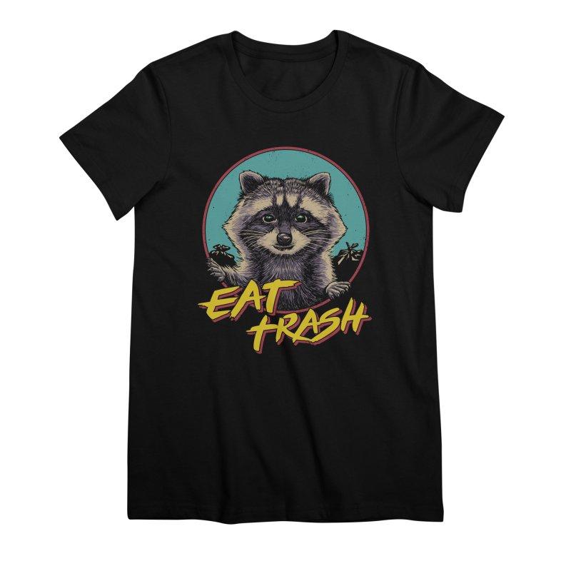 Eat Trash Women's Premium T-Shirt by Vincent Trinidad Art
