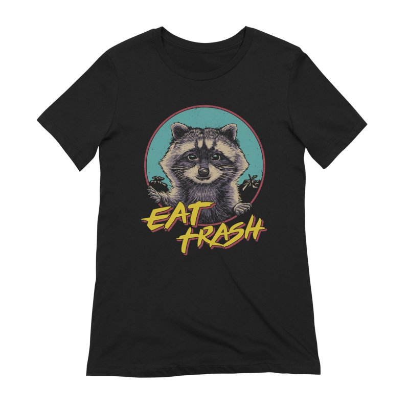 Eat Trash Women's Extra Soft T-Shirt by Vincent Trinidad Art