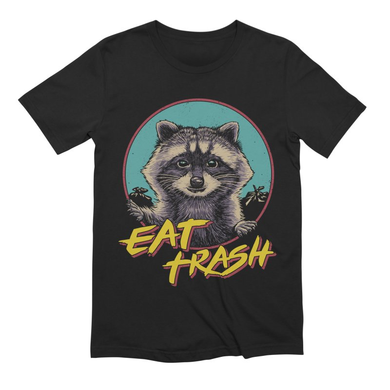 Eat Trash Men's Extra Soft T-Shirt by Vincent Trinidad Art