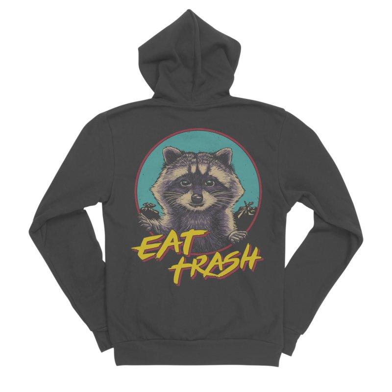 Eat Trash Women's Sponge Fleece Zip-Up Hoody by Vincent Trinidad Art