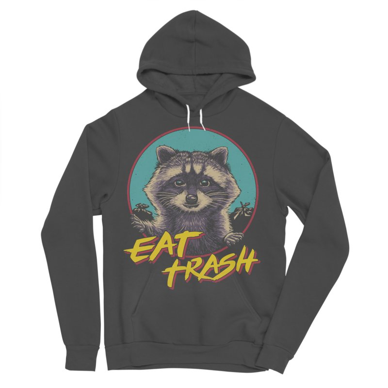 Eat Trash Men's Sponge Fleece Pullover Hoody by Vincent Trinidad Art
