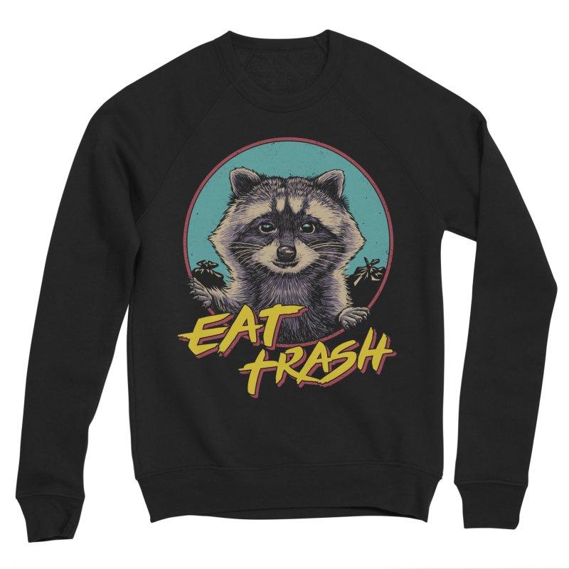 Eat Trash Men's Sponge Fleece Sweatshirt by Vincent Trinidad Art