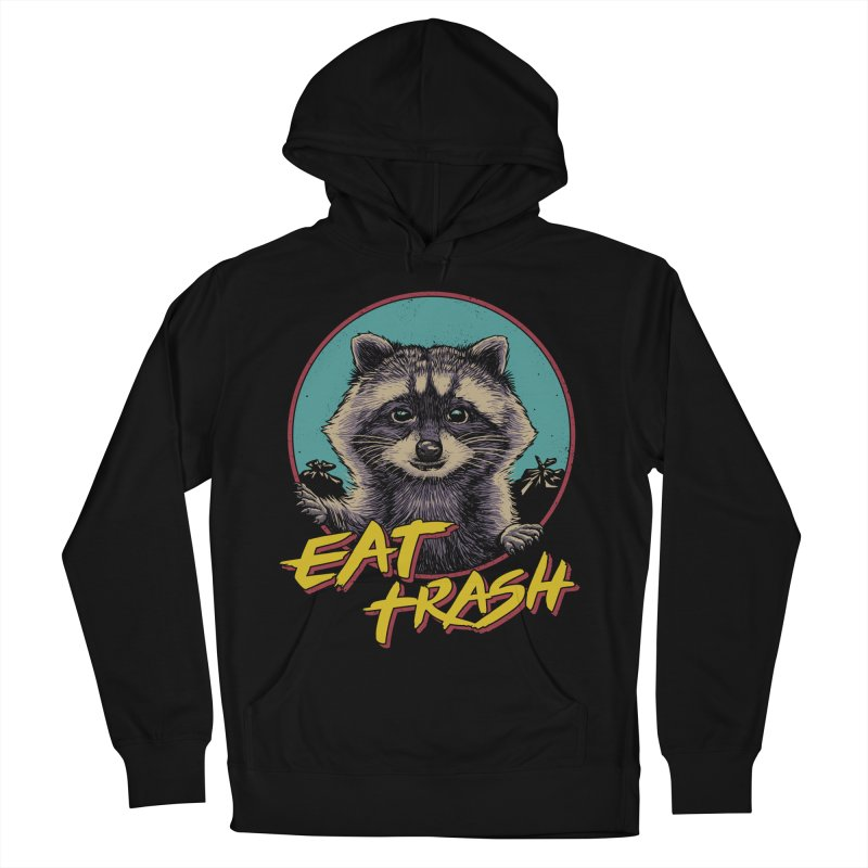 Eat Trash Men's French Terry Pullover Hoody by Vincent Trinidad Art
