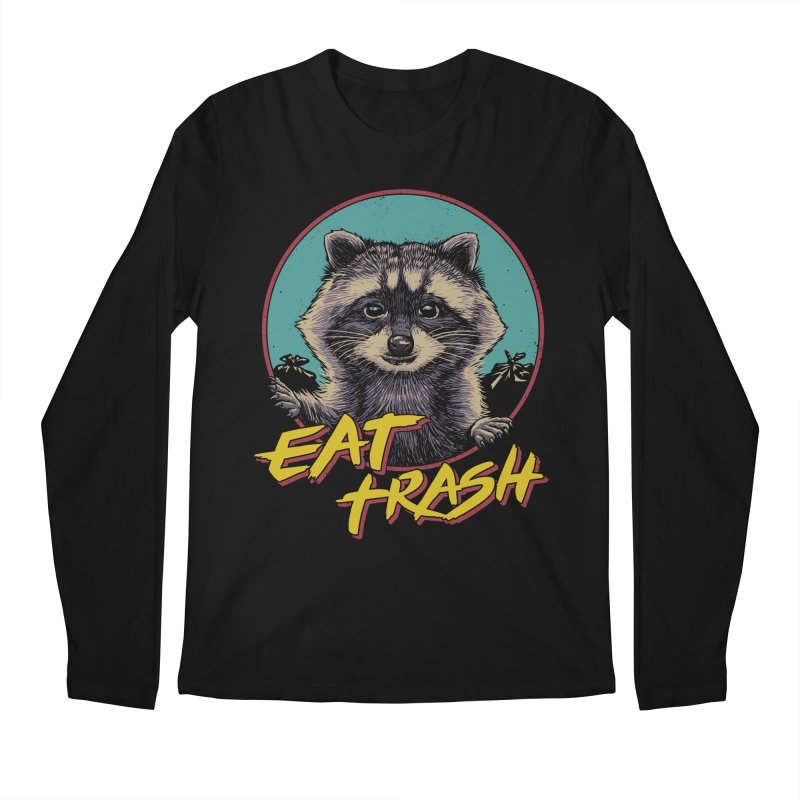 Eat Trash Men's Regular Longsleeve T-Shirt by Vincent Trinidad Art