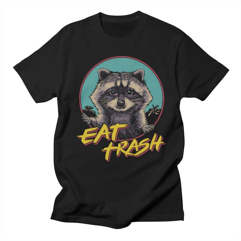 Eat Trash in Men's Regular T-Shirt Black by Vincent Trinidad Art