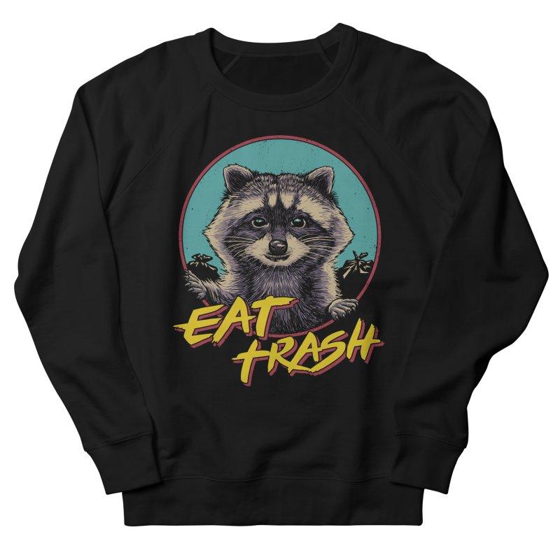 Eat Trash Men's French Terry Sweatshirt by Vincent Trinidad Art
