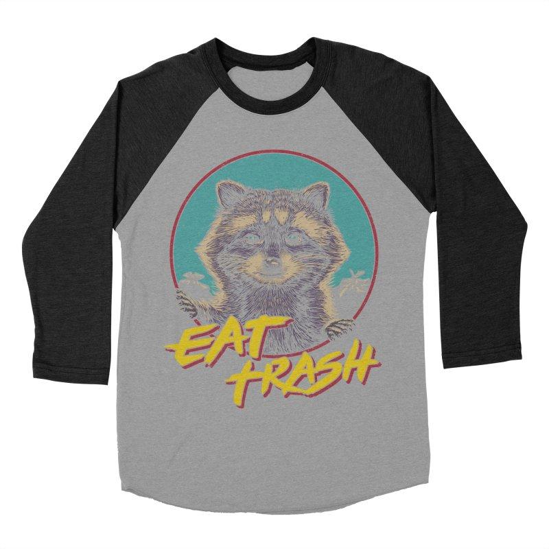 Eat Trash Women's Baseball Triblend Longsleeve T-Shirt by Vincent Trinidad Art