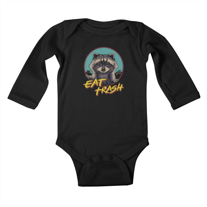 Eat Trash Kids Baby Longsleeve Bodysuit by Vincent Trinidad Art