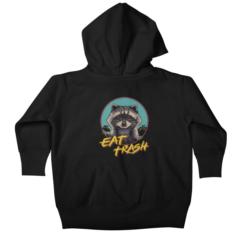 Eat Trash Kids Baby Zip-Up Hoody by Vincent Trinidad Art