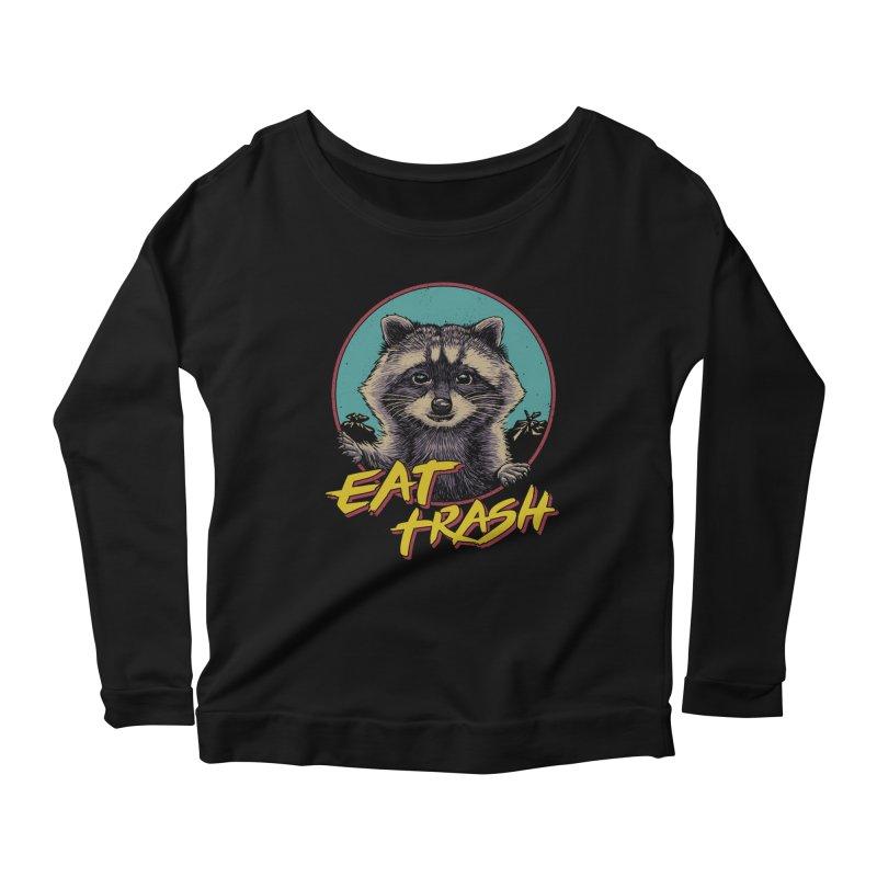 Eat Trash Women's Scoop Neck Longsleeve T-Shirt by Vincent Trinidad Art