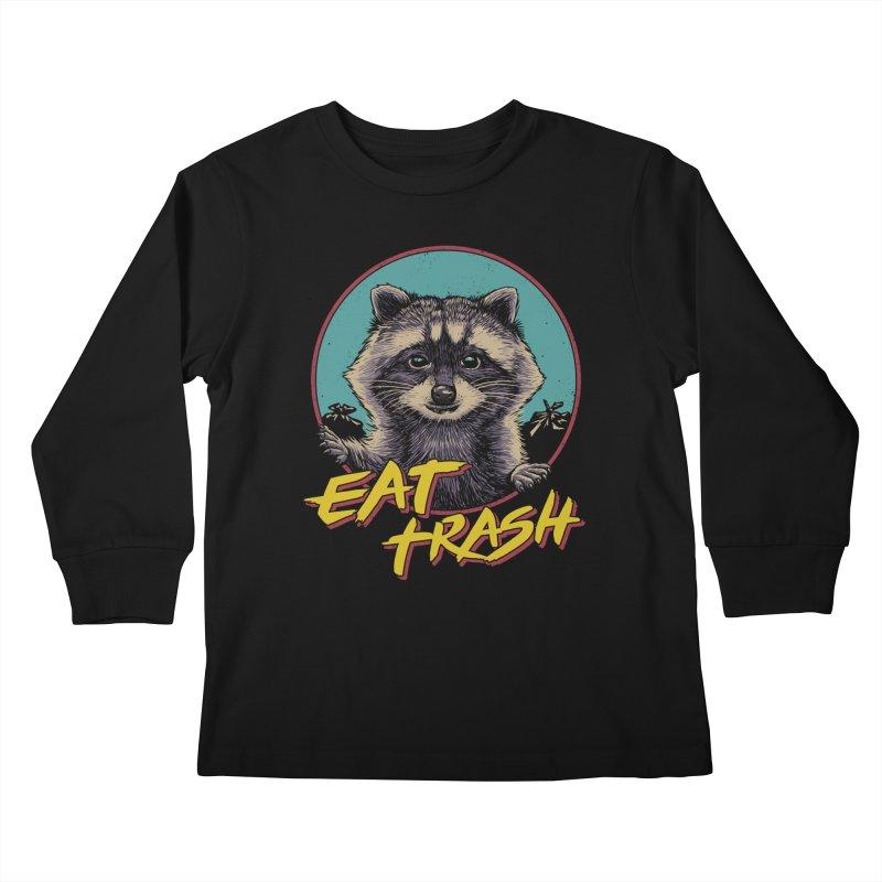 Eat Trash Kids Longsleeve T-Shirt by Vincent Trinidad Art