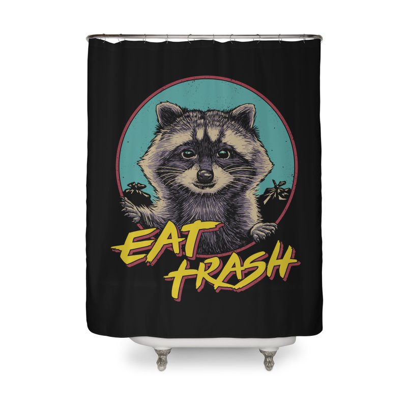 Eat Trash Home Shower Curtain by Vincent Trinidad Art