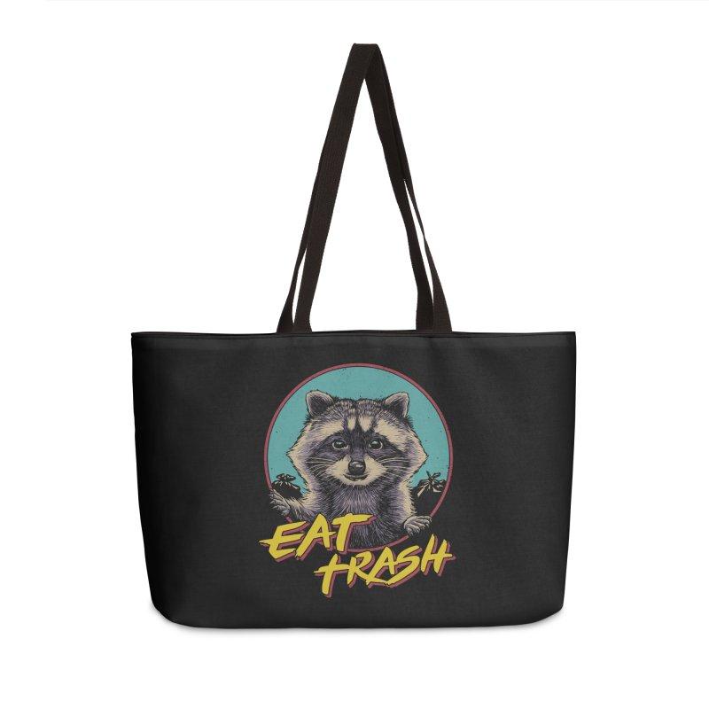 Eat Trash Accessories Weekender Bag Bag by Vincent Trinidad Art