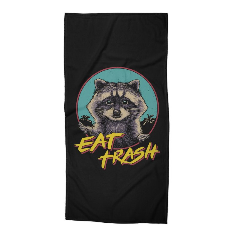 Eat Trash Accessories Beach Towel by Vincent Trinidad Art