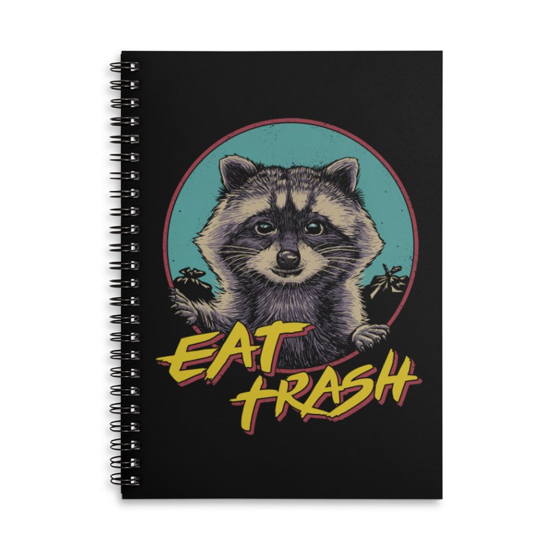 Eat Trash Accessories Lined Spiral Notebook by Vincent Trinidad Art