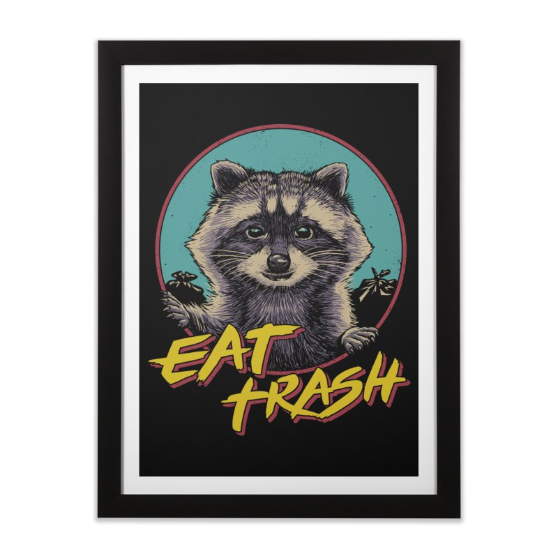 Eat Trash Home Framed Fine Art Print by Vincent Trinidad Art