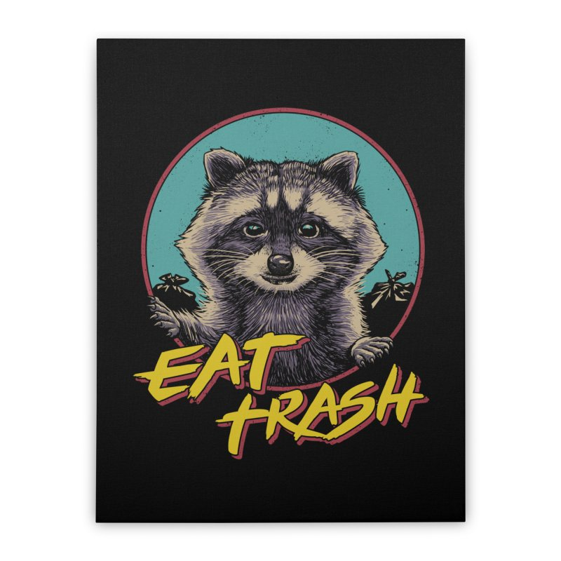 Eat Trash Home Stretched Canvas by Vincent Trinidad Art