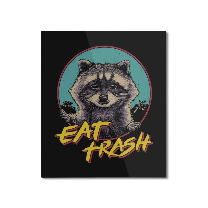 Eat Trash Home Mounted Aluminum Print by Vincent Trinidad Art