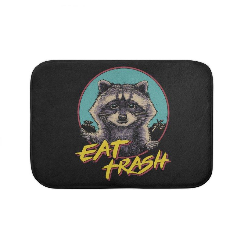 Eat Trash Home Bath Mat by Vincent Trinidad Art