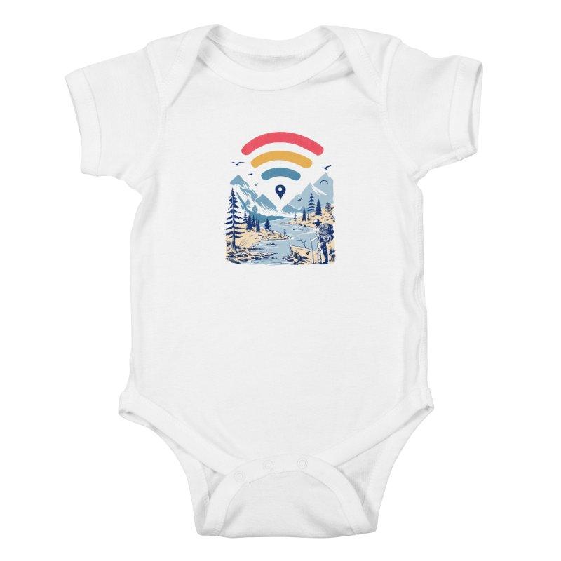 Internet Explorer Kids Baby Bodysuit by Vincent Trinidad Art