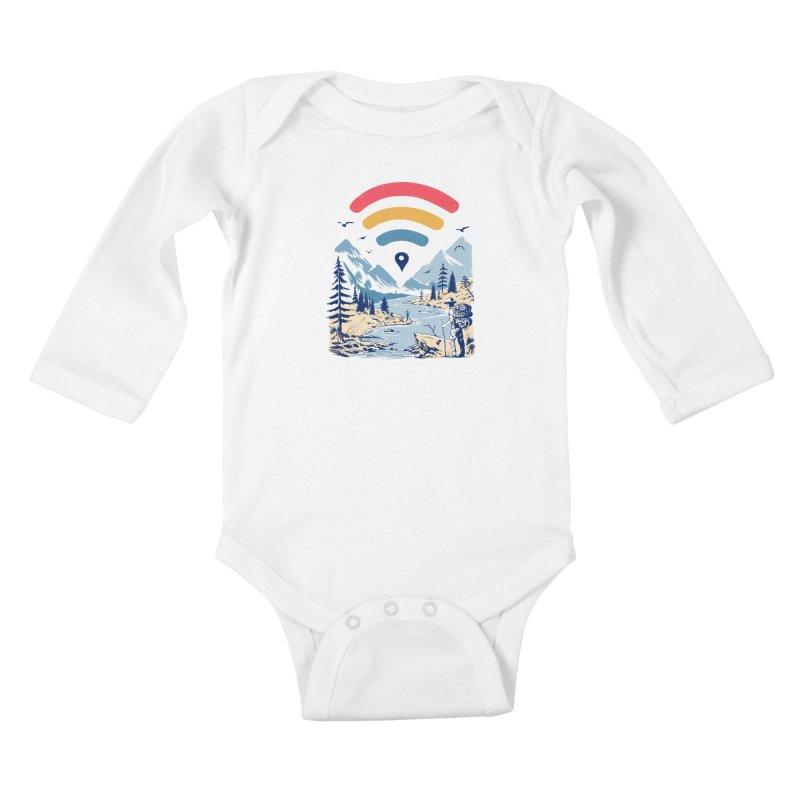 Internet Explorer Kids Baby Longsleeve Bodysuit by Vincent Trinidad Art
