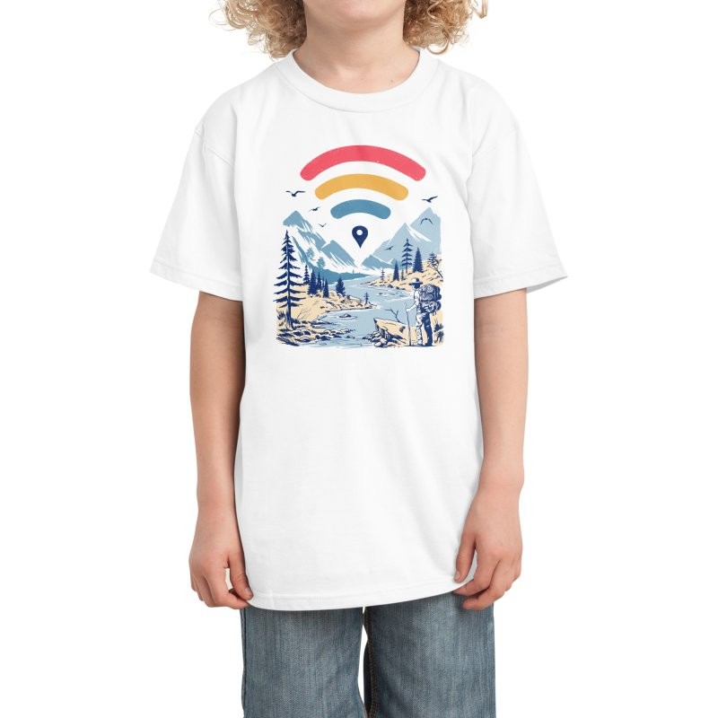 Internet Explorer Kids T-Shirt by Vincent Trinidad Art