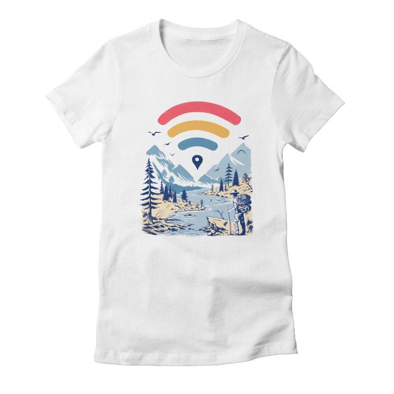 Internet Explorer Women's Fitted T-Shirt by Vincent Trinidad Art