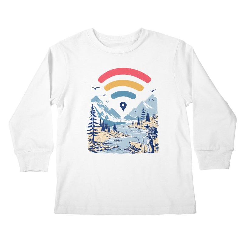 Internet Explorer Kids Longsleeve T-Shirt by Vincent Trinidad Art