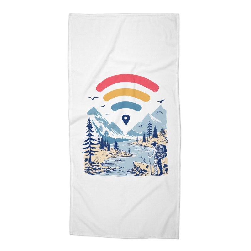 Internet Explorer Accessories Beach Towel by Vincent Trinidad Art