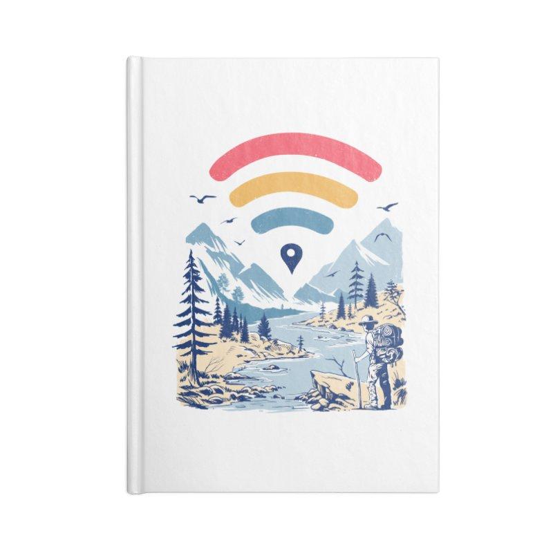 Internet Explorer Accessories Lined Journal Notebook by Vincent Trinidad Art