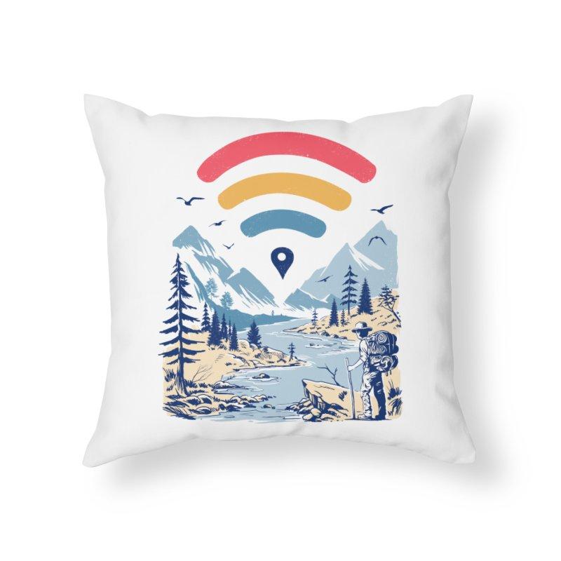 Internet Explorer Home Throw Pillow by Vincent Trinidad Art