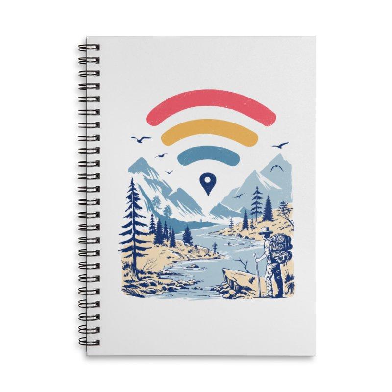 Internet Explorer Accessories Lined Spiral Notebook by Vincent Trinidad Art