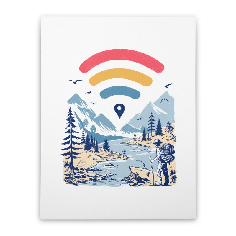 Internet Explorer Home Stretched Canvas by Vincent Trinidad Art