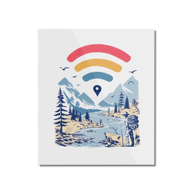 Internet Explorer Home Mounted Acrylic Print by Vincent Trinidad Art