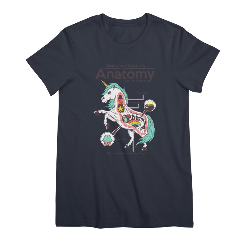 Anatomy of a Unicorn Women's Premium T-Shirt by Vincent Trinidad Art