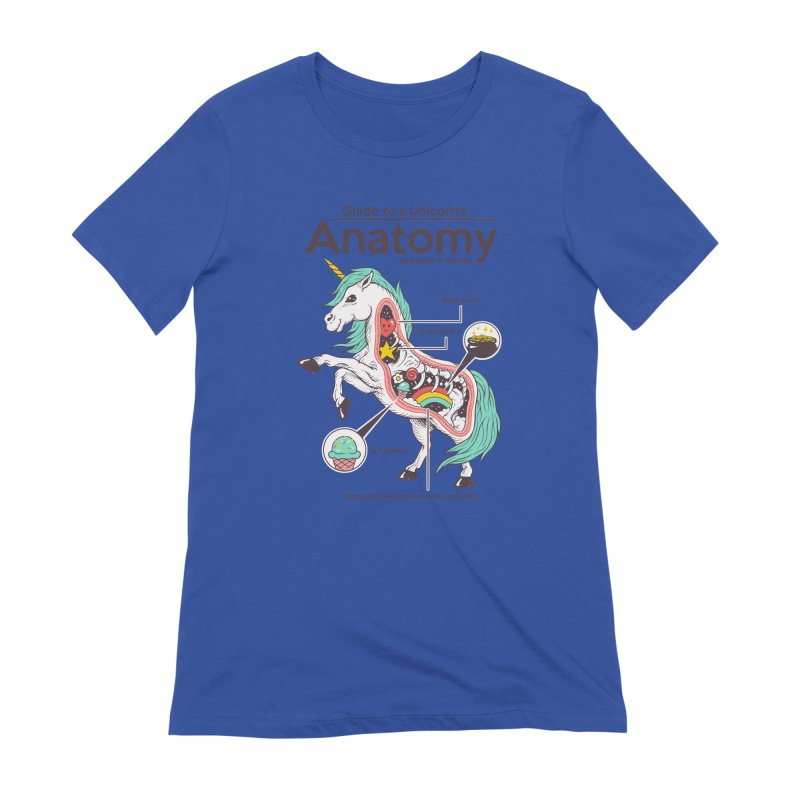 Anatomy of a Unicorn Women's Extra Soft T-Shirt by Vincent Trinidad Art