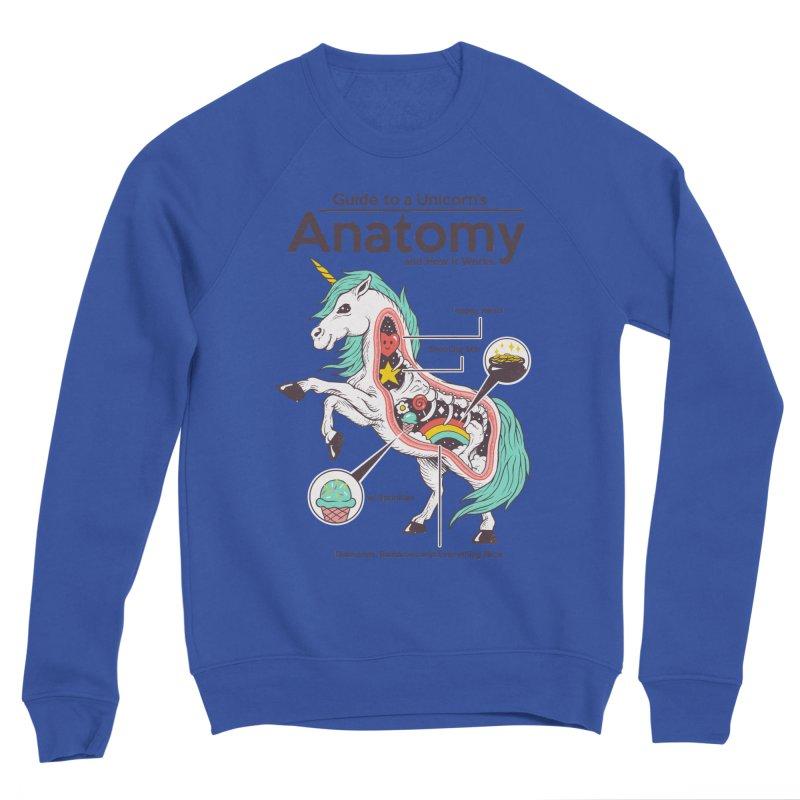 Anatomy of a Unicorn Men's Sponge Fleece Sweatshirt by Vincent Trinidad Art