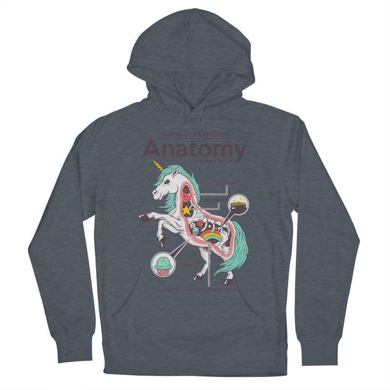 Anatomy of a Unicorn Men's French Terry Pullover Hoody by Vincent Trinidad Art