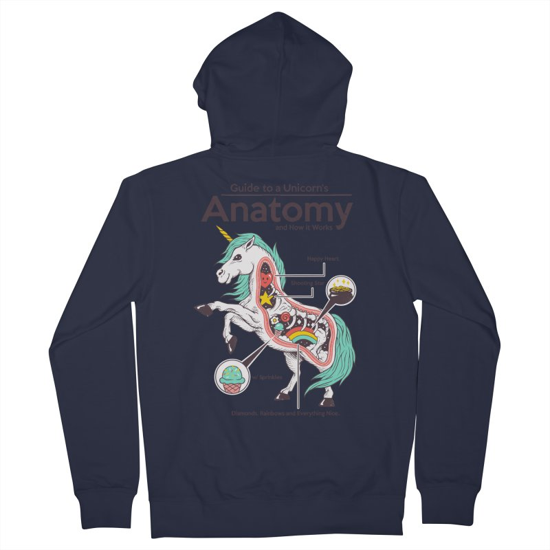 Anatomy of a Unicorn Men's French Terry Zip-Up Hoody by Vincent Trinidad Art