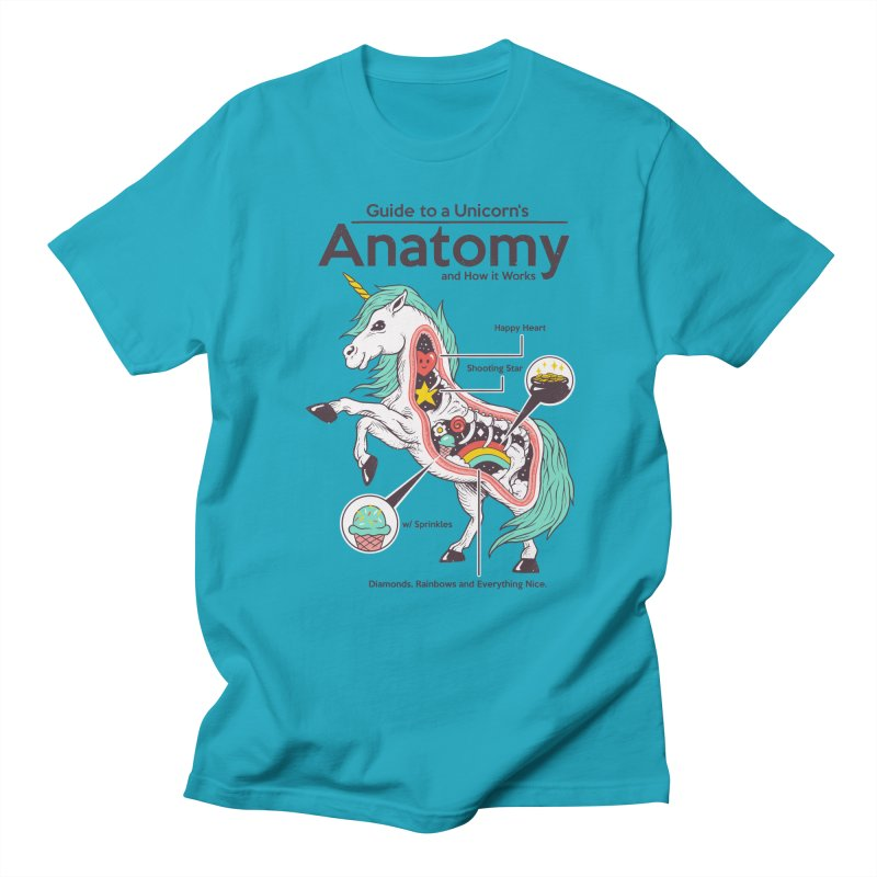 Anatomy of a Unicorn Men's Regular T-Shirt by Vincent Trinidad Art