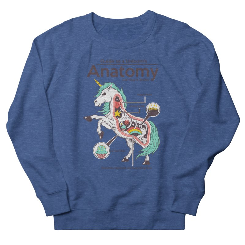 Anatomy of a Unicorn Women's French Terry Sweatshirt by Vincent Trinidad Art