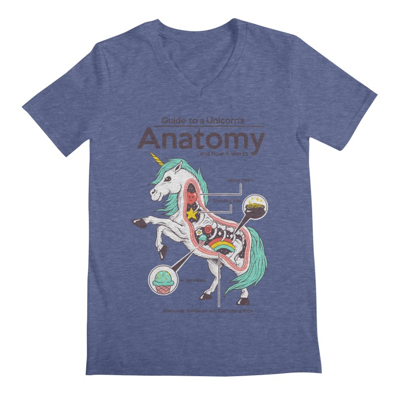 Anatomy of a Unicorn Men's Regular V-Neck by Vincent Trinidad Art