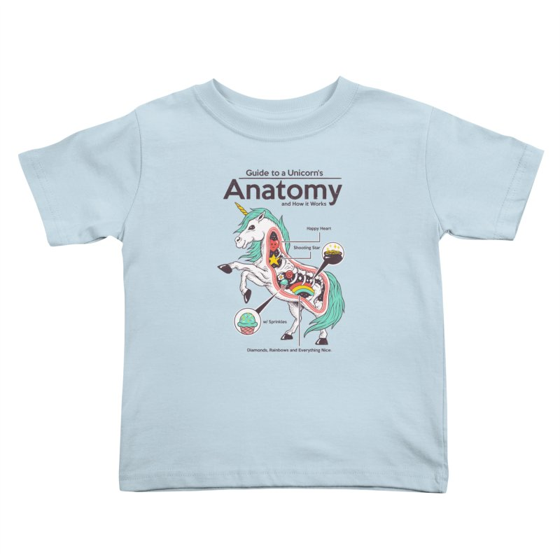 Anatomy of a Unicorn Kids Toddler T-Shirt by Vincent Trinidad Art