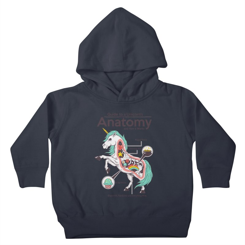 Anatomy of a Unicorn Kids Toddler Pullover Hoody by Vincent Trinidad Art